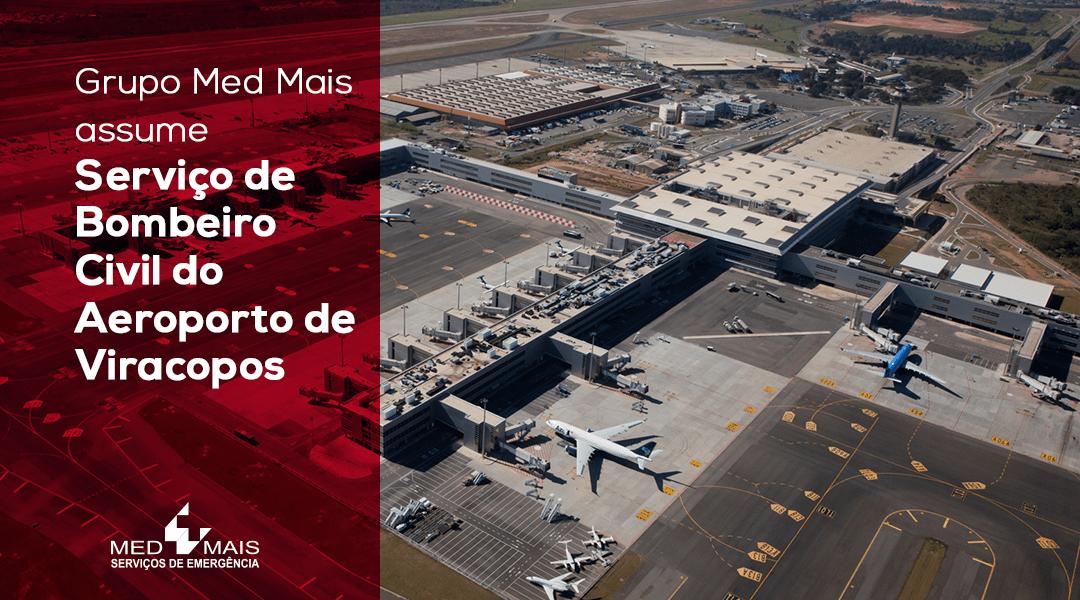 Med Mais assume serviços de Bombeiro Civil do Aeroporto de Viracopos