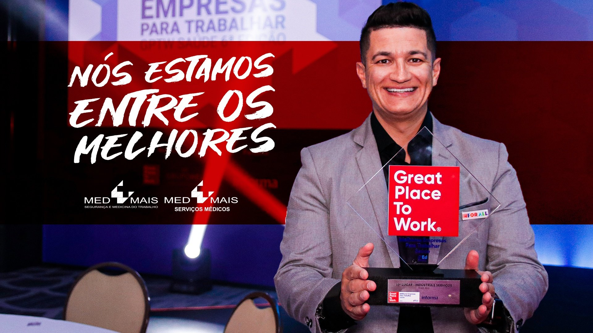Grupo Med Mais conquista 10° lugar no ranking Great to Place to Work