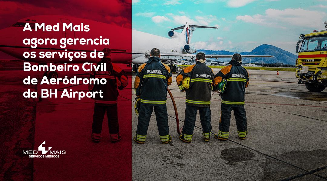 Med Mais agora gerencia os serviços de Bombeiro Civil de Aeródromo da BH Airport